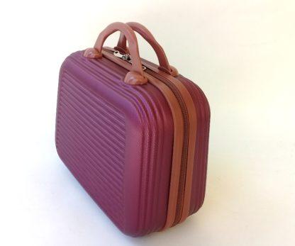 Бьюти-кейс пластиковый бордовый